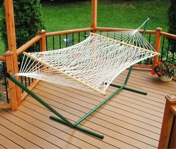 Hammock furniture hammock reviews for Rope hammock plans