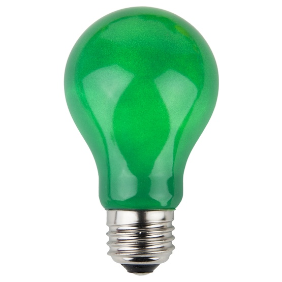 A19 Colored Party Bulbs Green Opaque Yard Envy