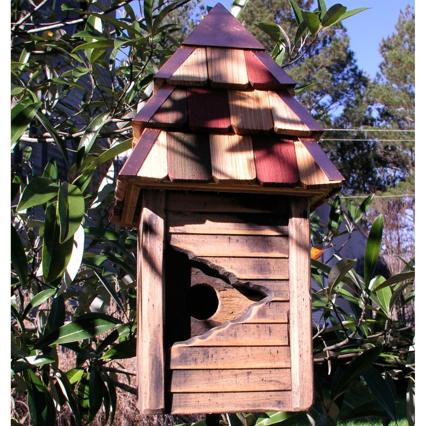 Vintage Gatehouse Rustic Wooden Bird House Yard Envy