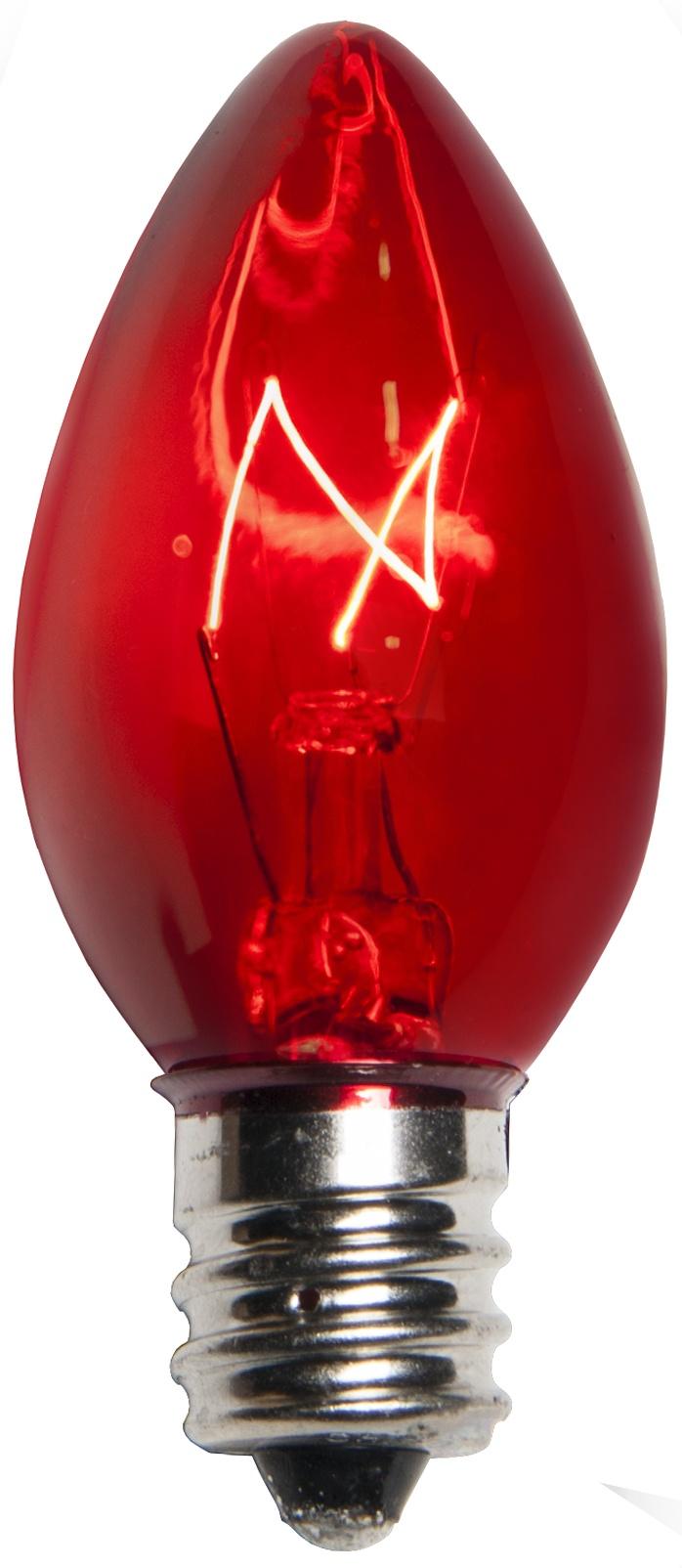 C7 Light Bulb Red Yard Envy