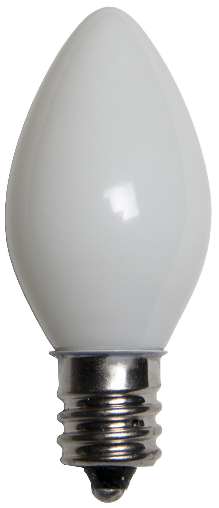 C7 Light Bulb, White Opaque - Yard Envy