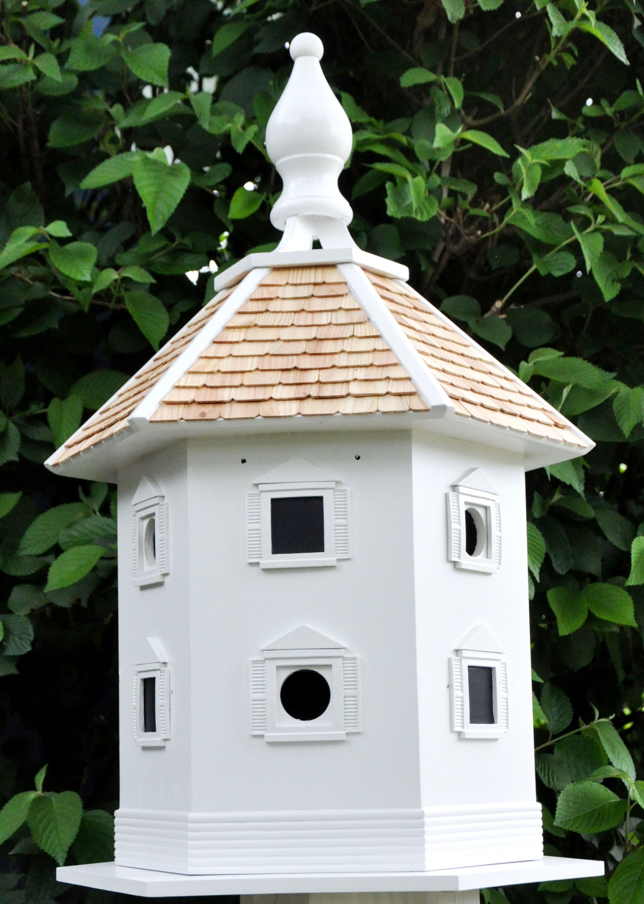 White Danbury Dovecote 6 Room Bird House Yard Envy