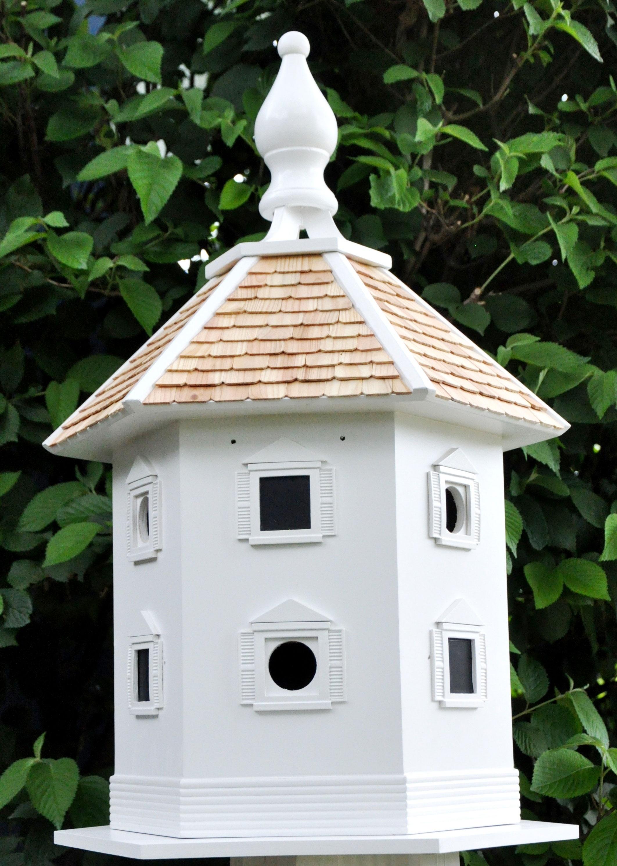 White danbury dovecote 6 room bird house yard envy for Different bird houses