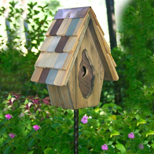 Vintage Wren Bird House Yard Envy