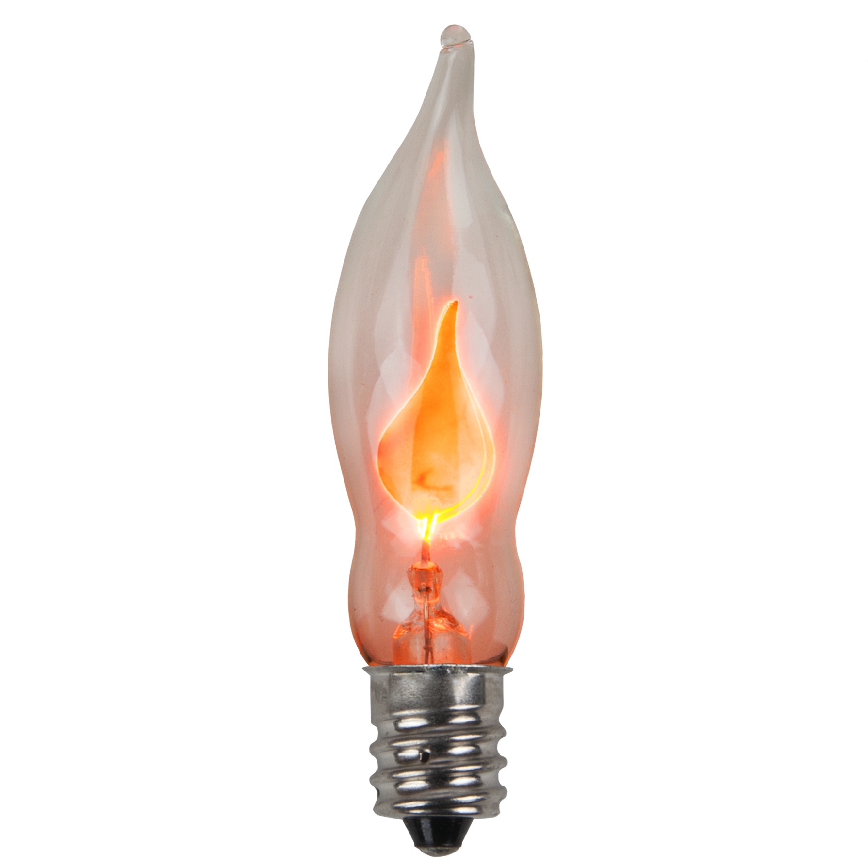 c7 light bulb orange flicker flame yard envy - Halloween Light Bulbs