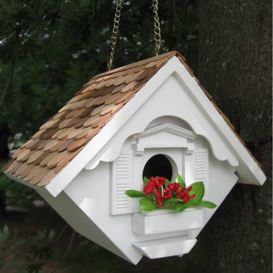 little wren white birdhouse HB 2044WS