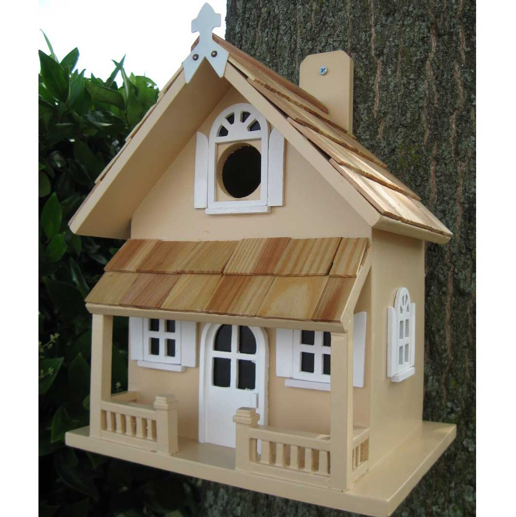 Victorian cottage bird house yard envy for Victorian birdhouse plans free