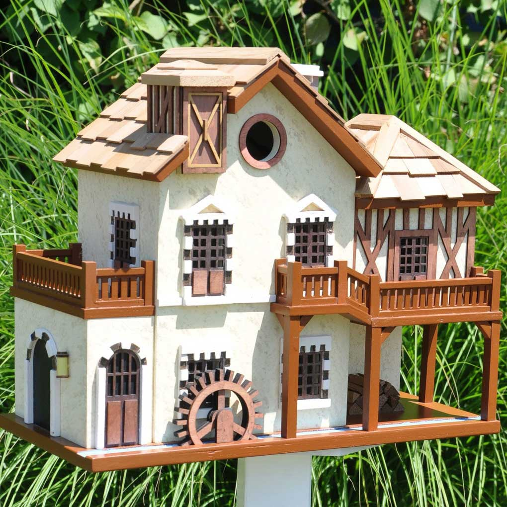 Water Mill Cottage Bird House Yard Envy