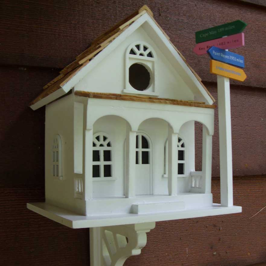sign post bird house yard envy. Black Bedroom Furniture Sets. Home Design Ideas