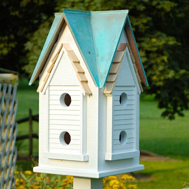 Victorian mansion bird house yard envy for Easy birdhouse ideas