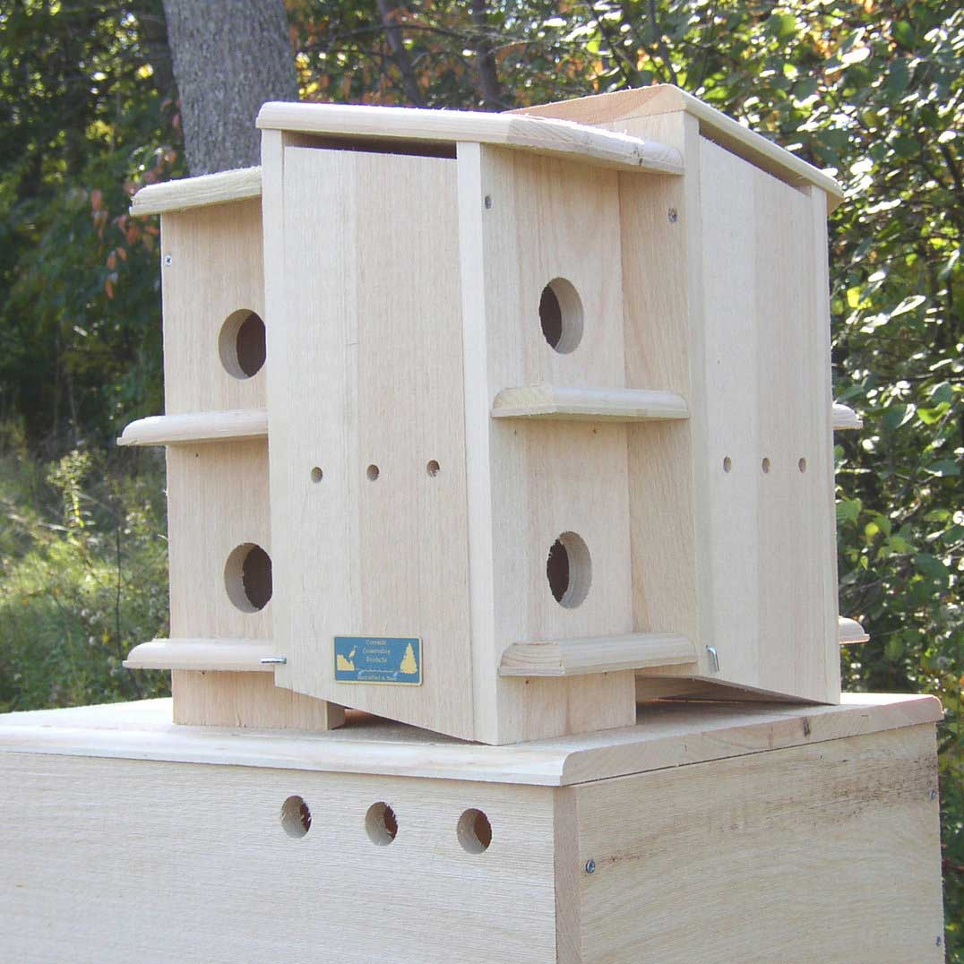 rustic purple martin bird house - yard envy
