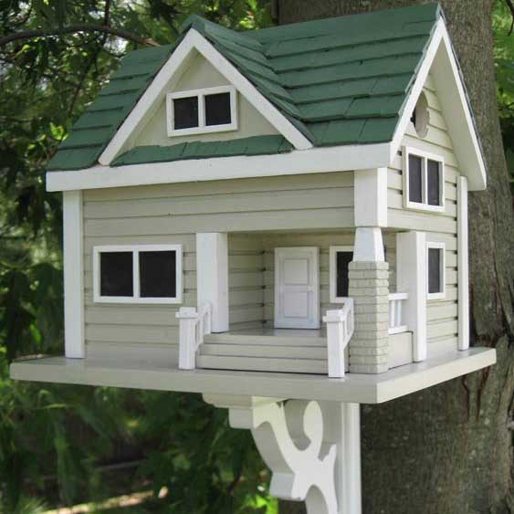 Bungalow bird house yard envy - Roof colors for green houses ...