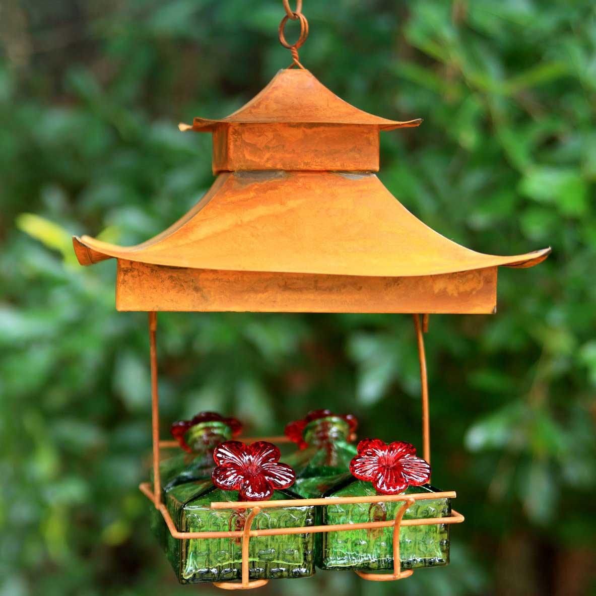 Pagoda Hummingbird Feeder Yard Envy