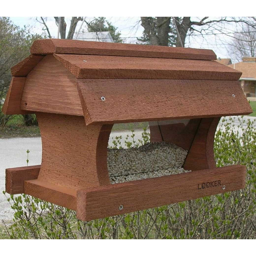 Hanging Barn Bird Feeder Wooden Bird Feeders 18821 320 on purple martin bird house plans free