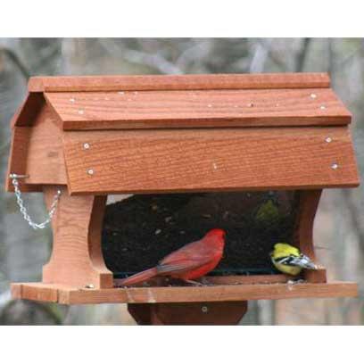 Post mount barn bird feeder yard envy