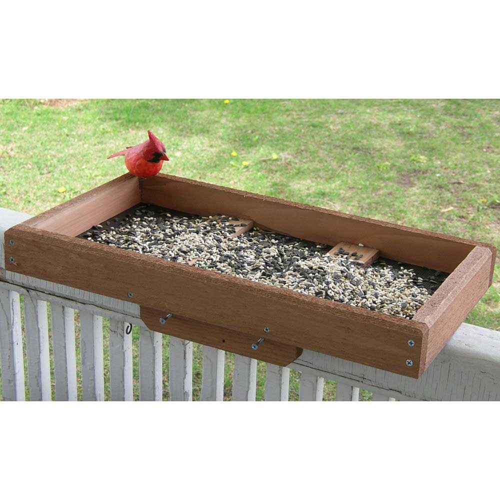 Deck / Post Tray Bird Feeder - Yard Envy