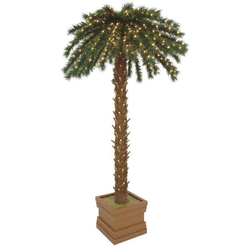 Empire pine lighted palm tree with green canopy yard envy