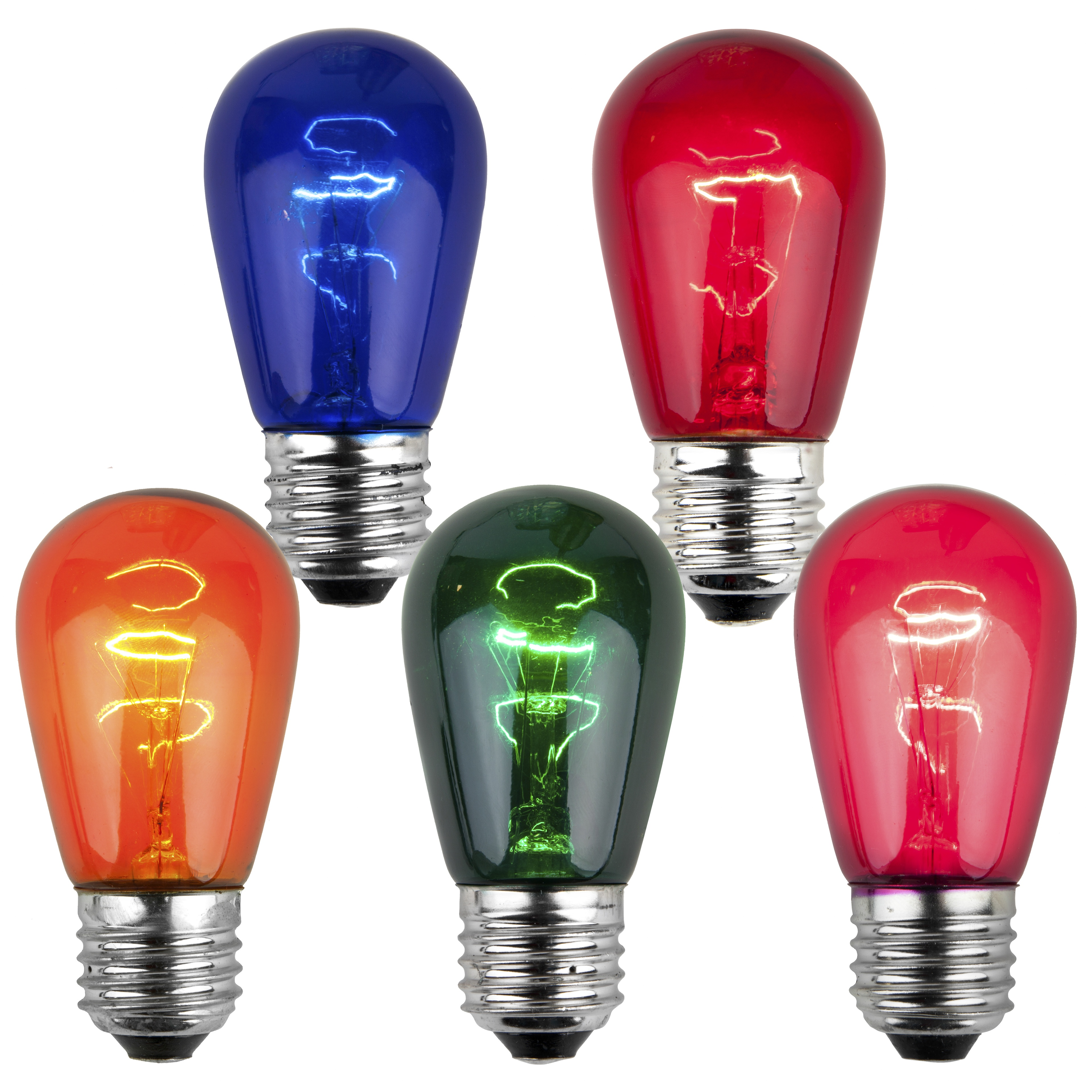 S14 Colored Party Bulbs Multicolor Yard Envy