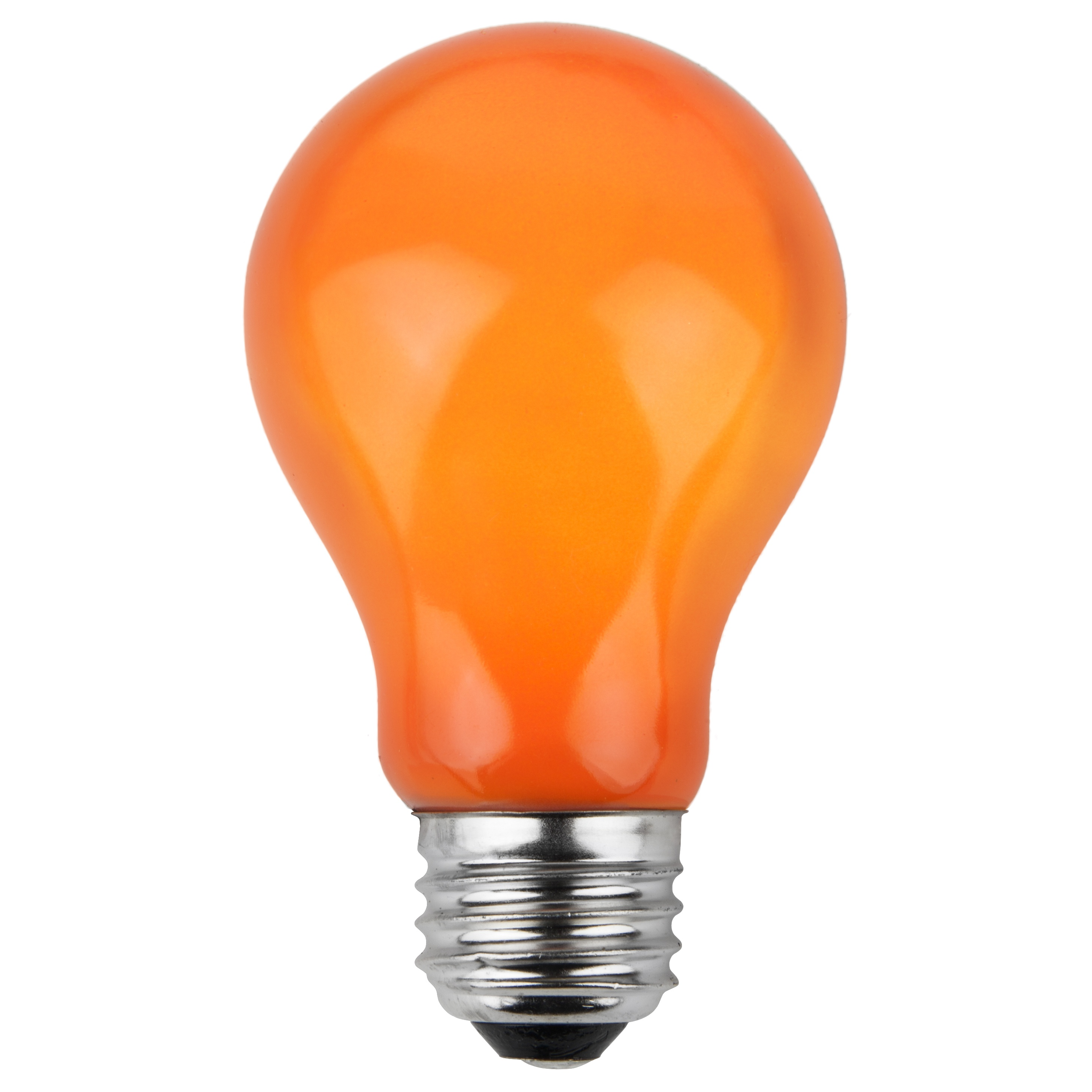 A19 Colored Party Bulbs Orange Opaque Yard Envy