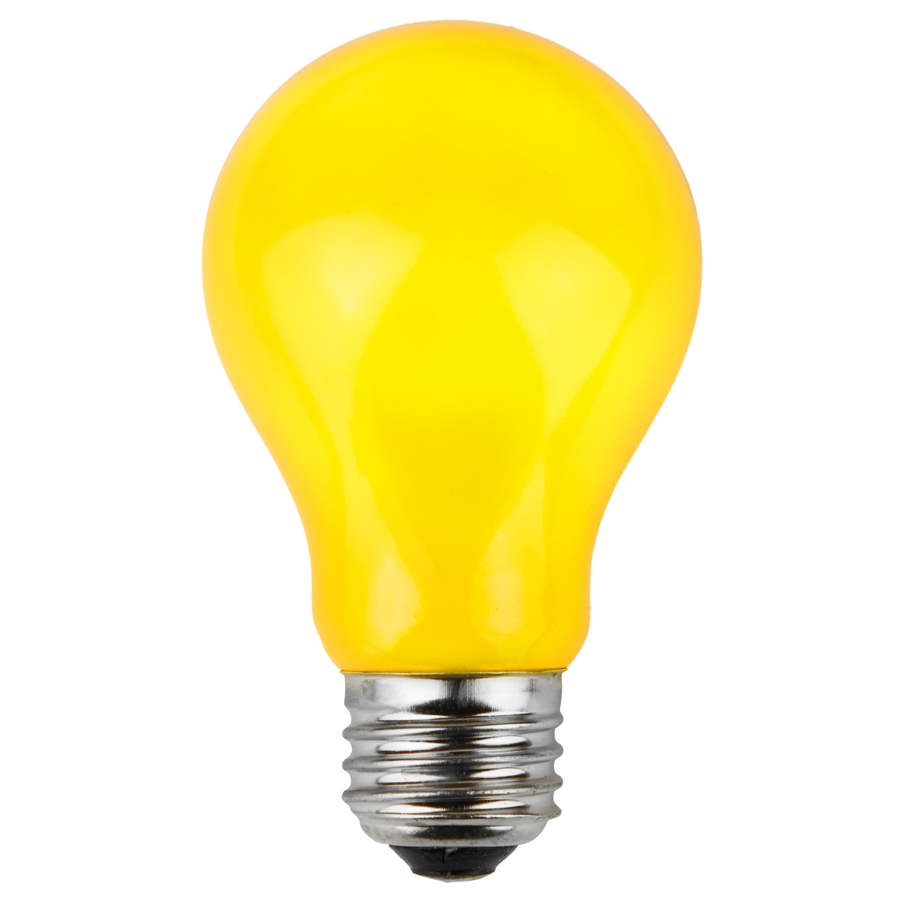 A19 Colored Party Bulbs Yellow Opaque Yard Envy