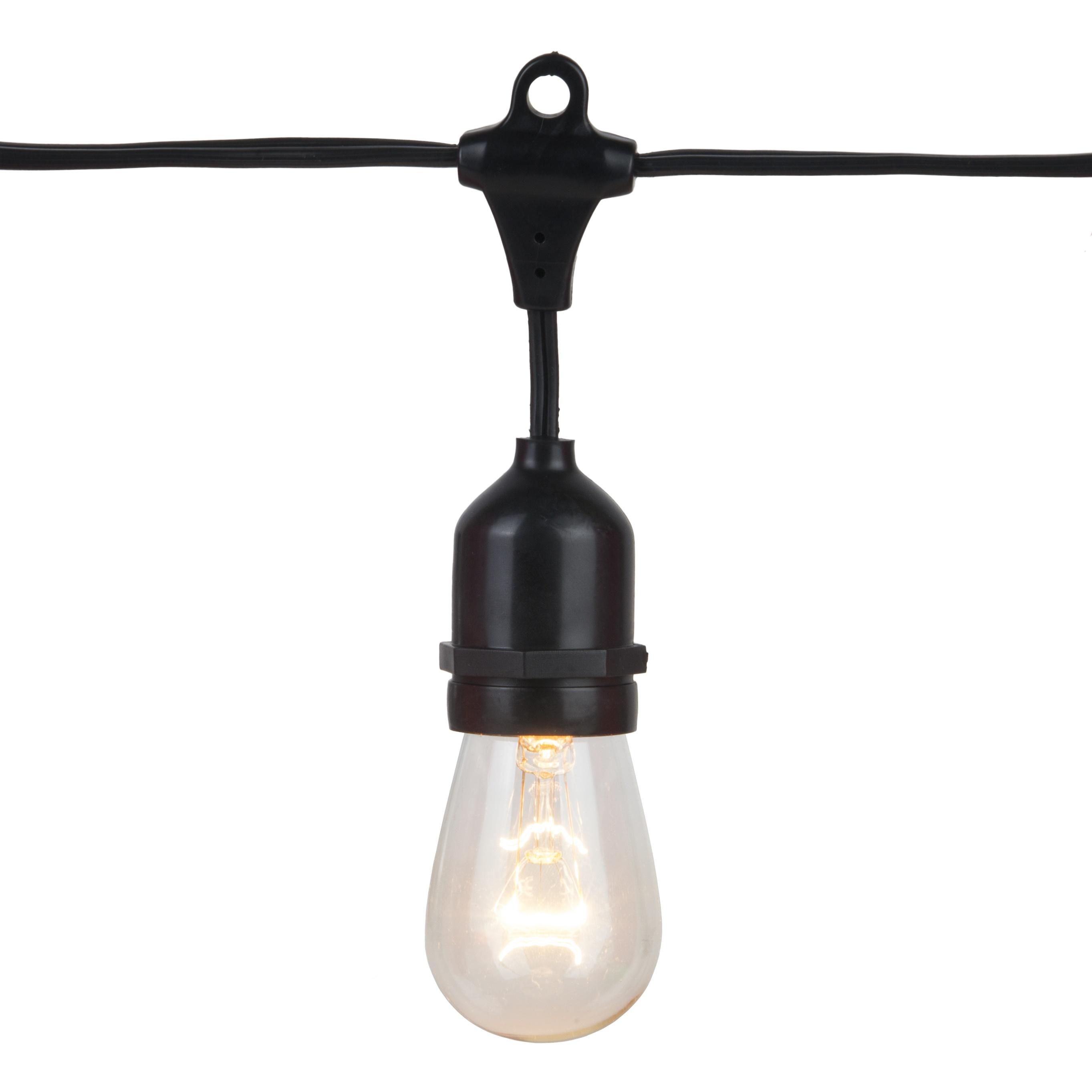 Commercial Patio Light String, Suspended E26 Medium Sockets - Yard Envy