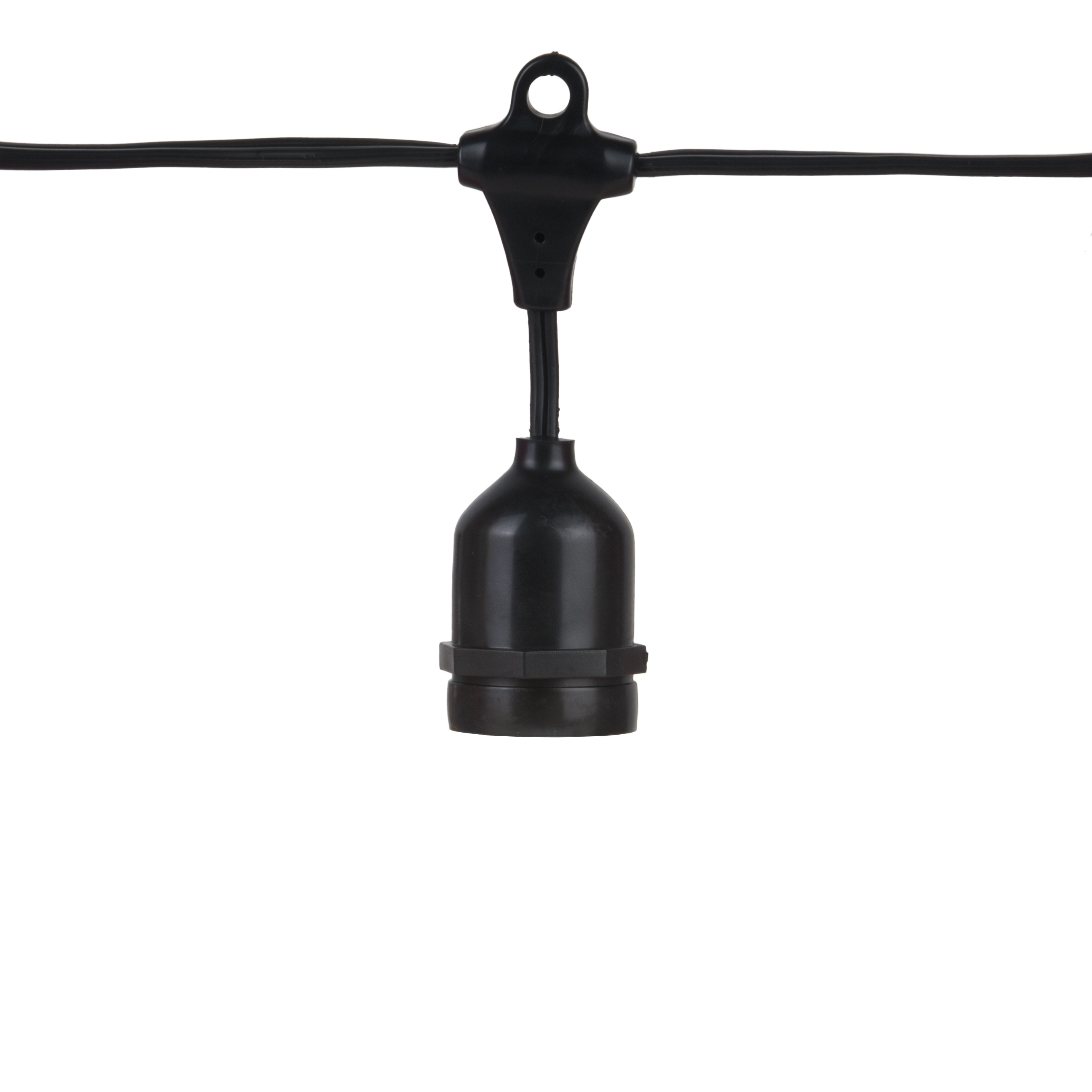 Outdoor String Lights Heavy Duty: Commercial Patio Light String, Suspended E26 Medium