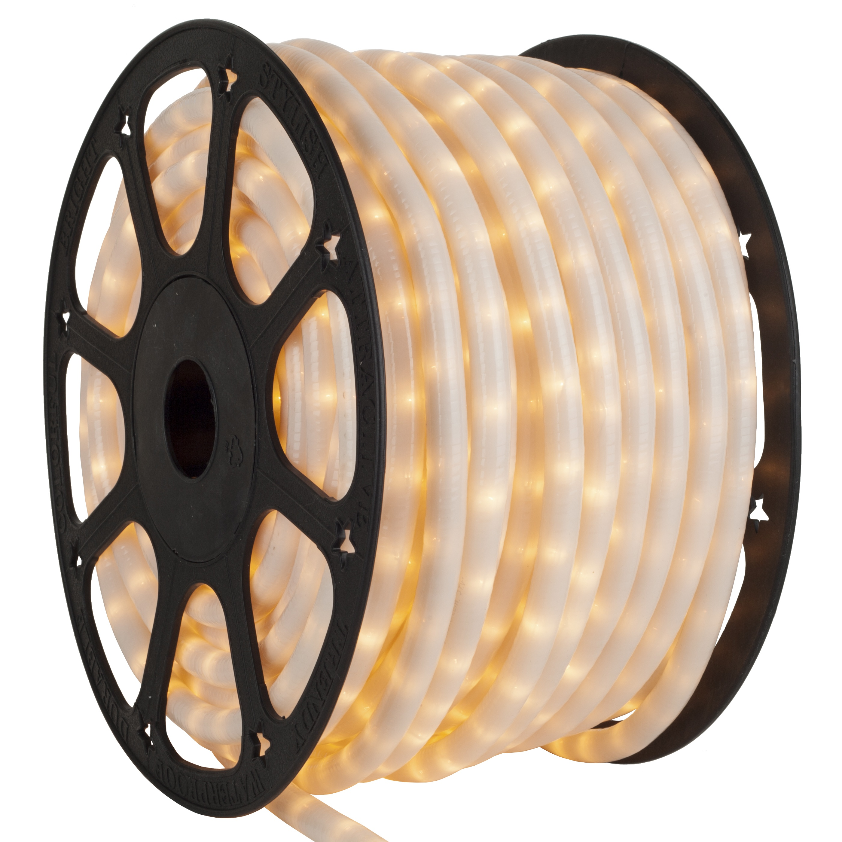 Pearl white rope lights 120 volt yard envy mozeypictures Gallery