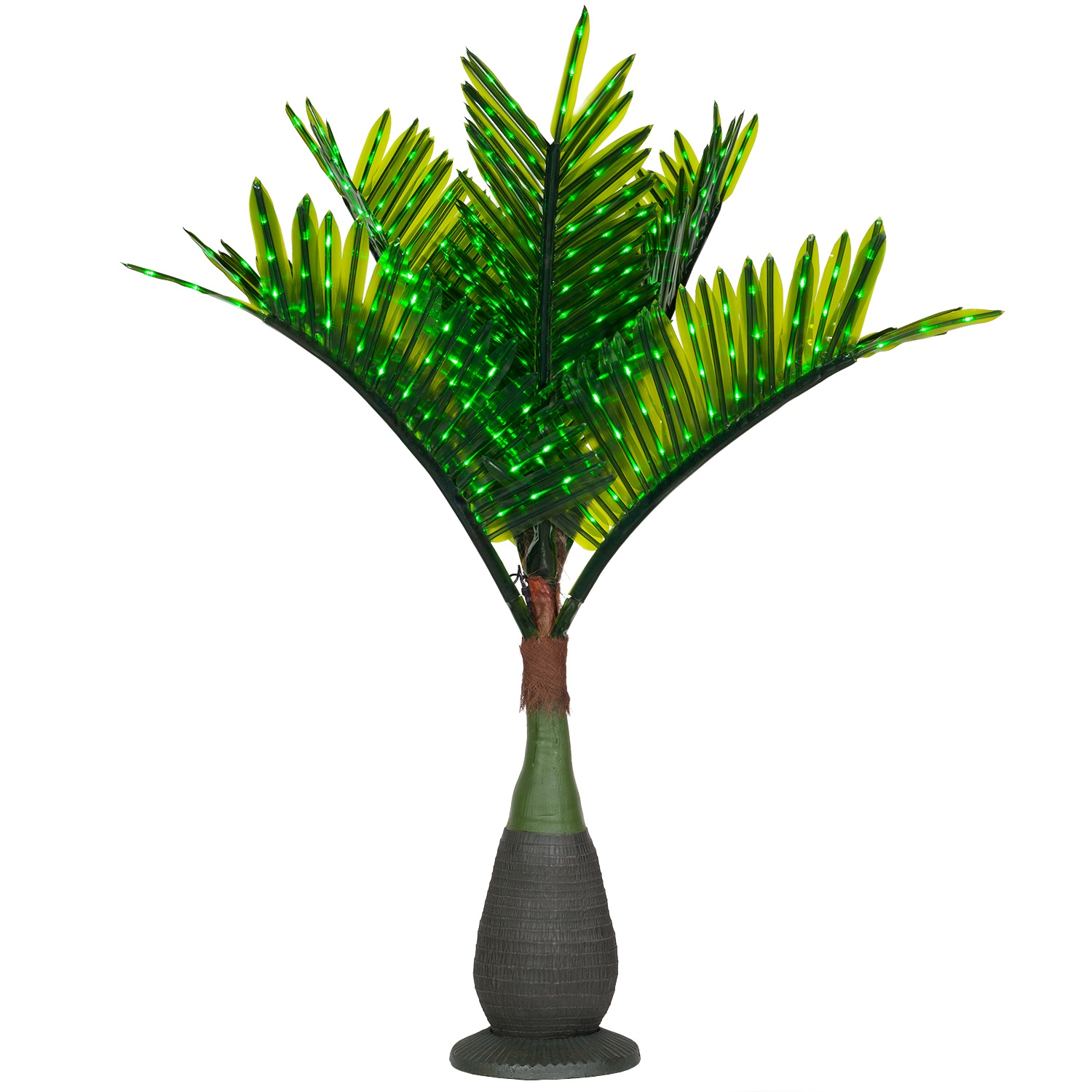 bottle commercial led lighted palm tree with green canopy - Palm Tree Decor