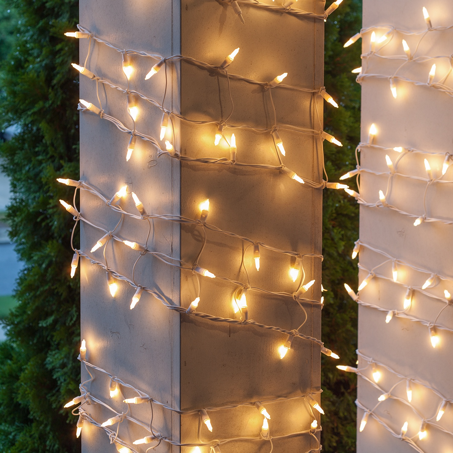 Column Wrap Lights 6 Quot X 15 White Frost White Wire
