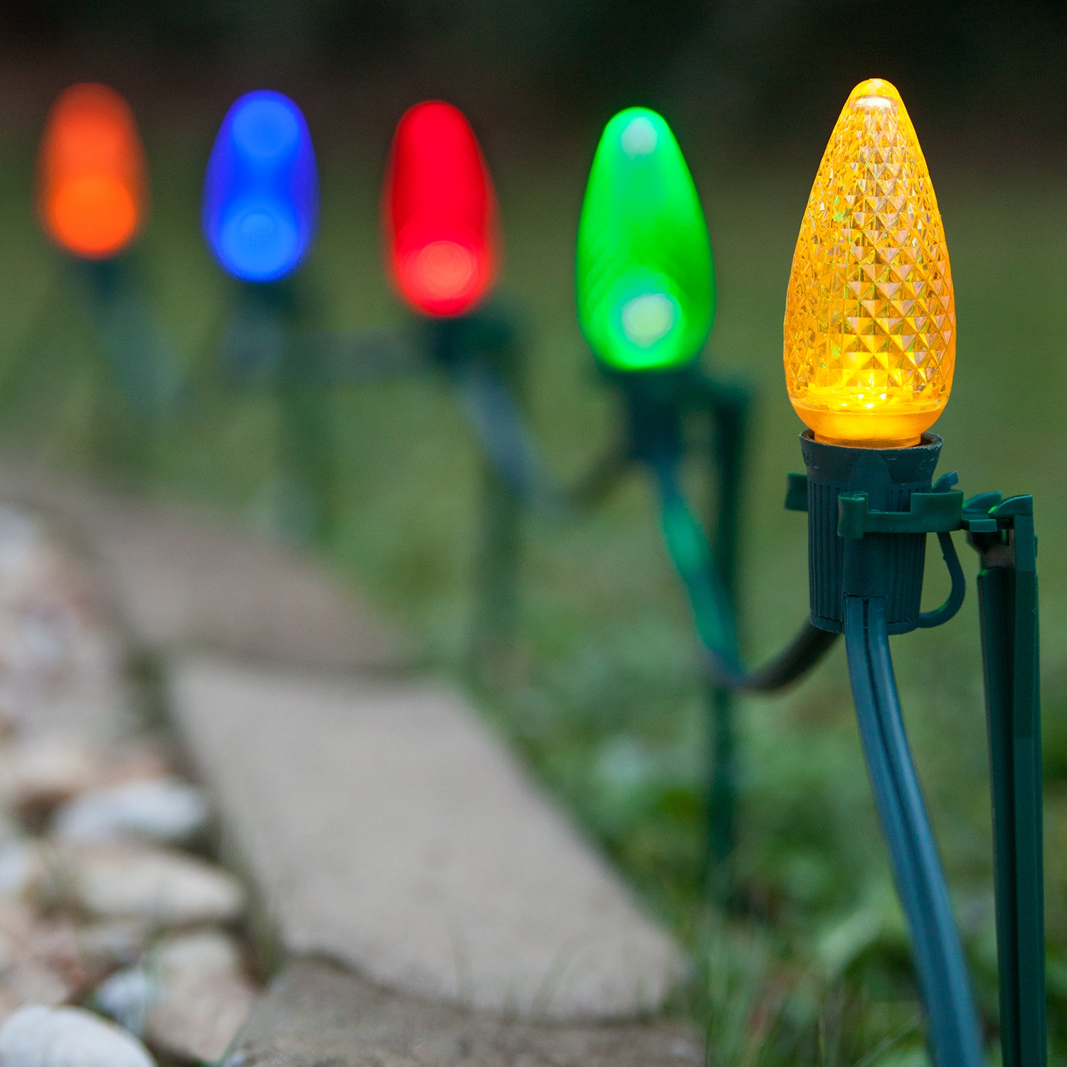 C9 Led Pathway Lights Multicolor 7 5 Stakes Yard Envy