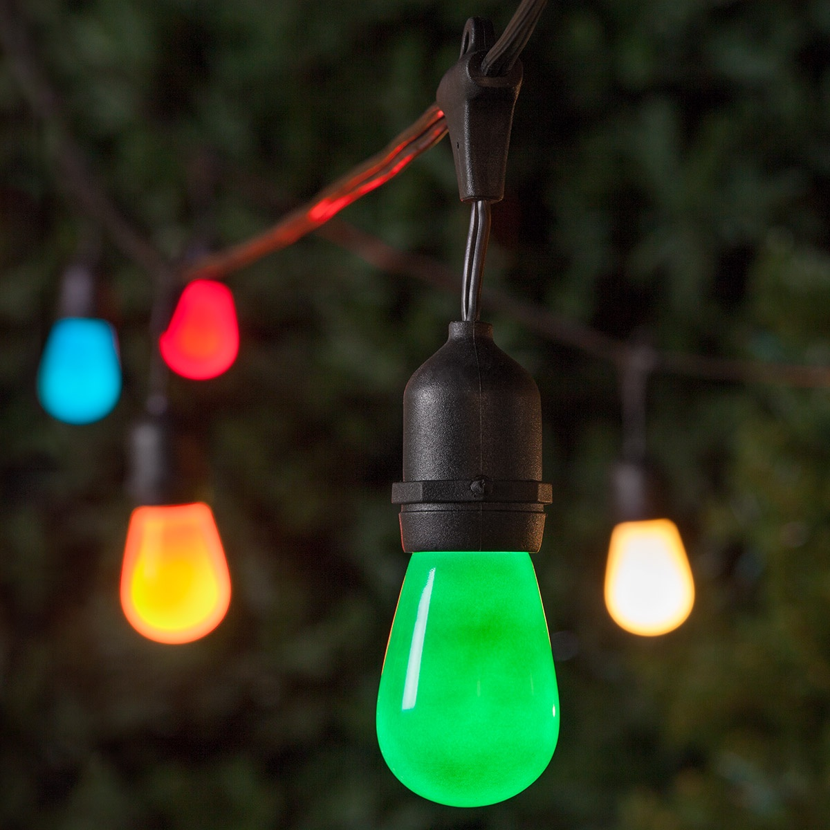 Commercial Patio String Lights, Multicolor S14 Opaque