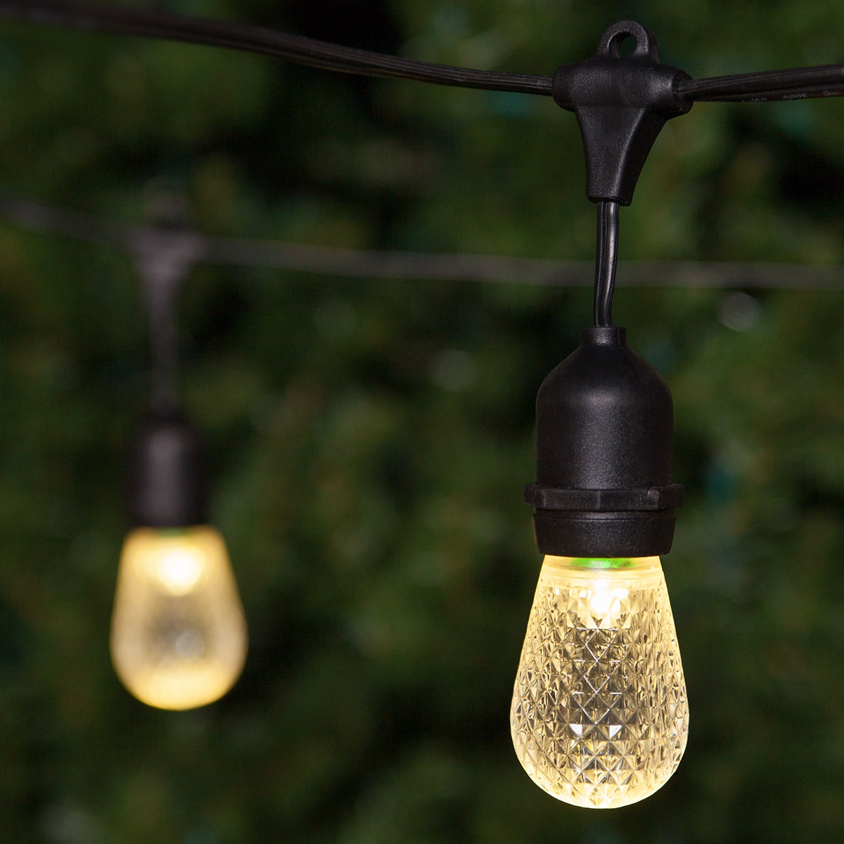 Outdoor String Lights Guide Wire: Commercial Patio String Lights, Warm White S14 LED Bulbs