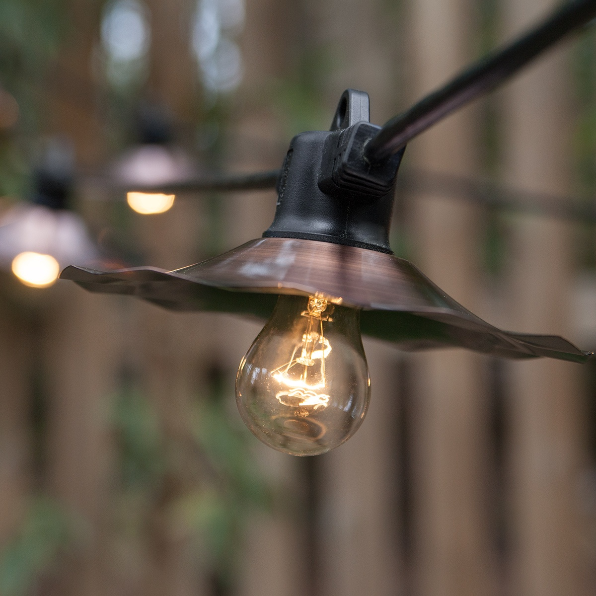 commercial patio lights. Cafe String Lights, Clear A15 Bulbs, Copper Shades Commercial Patio Lights H