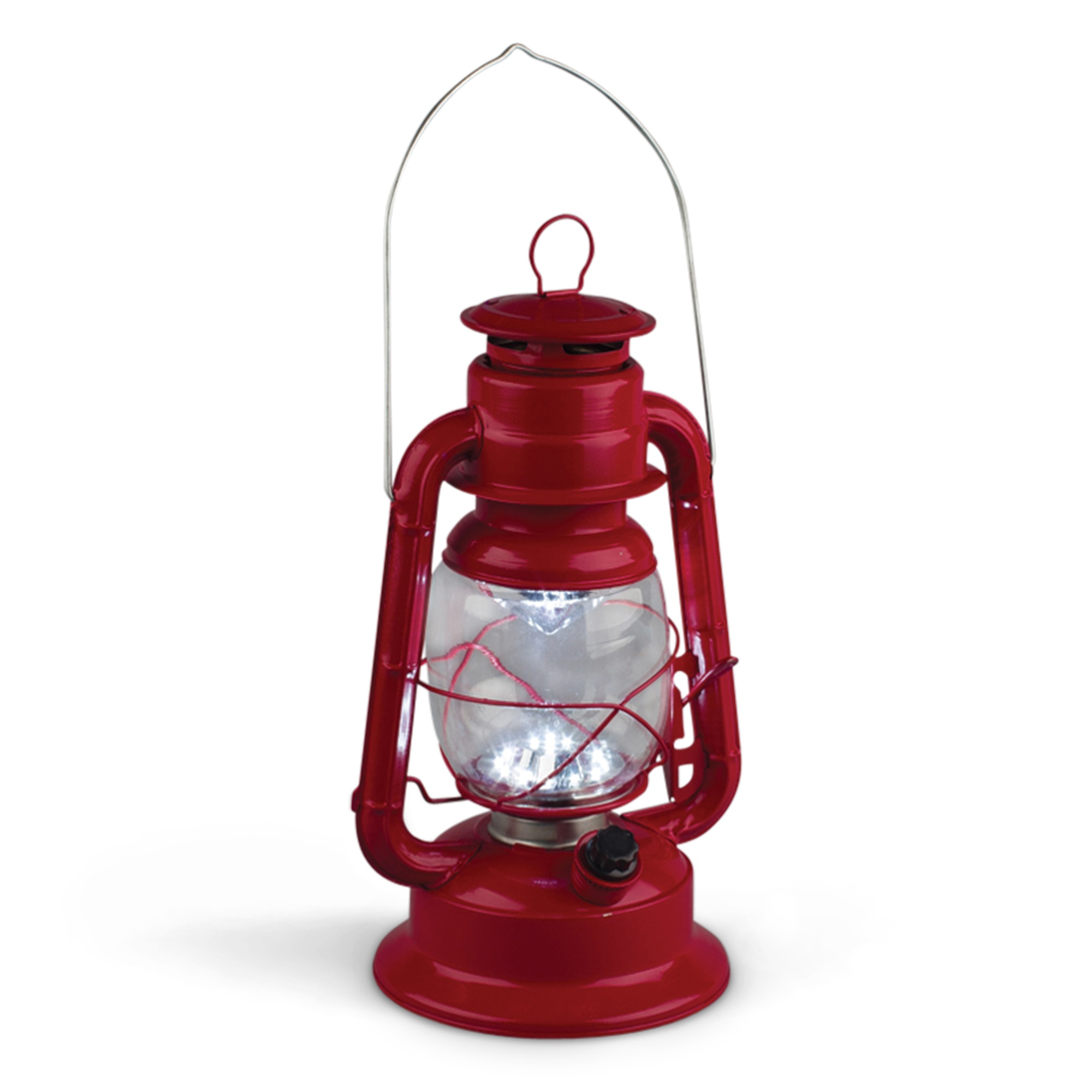 Red Led Hurricane Lantern Yard Envy
