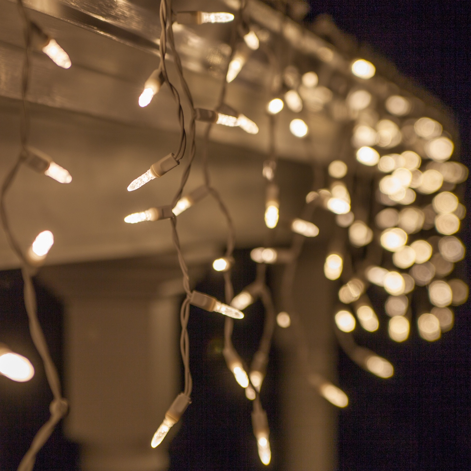 70 m5 led icicle lights warm white twinkle white wire yard envy aloadofball Image collections