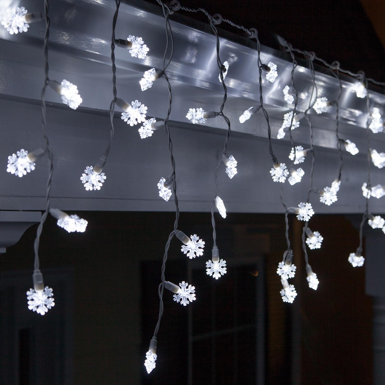 ye snowflake led icicle lights. Black Bedroom Furniture Sets. Home Design Ideas