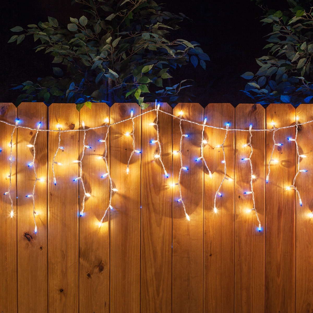 heavy duty steel small decorative indooroutdoor firewood.htm 150 icicle lights  blue clear  white wire yard envy  icicle lights  blue clear  white wire