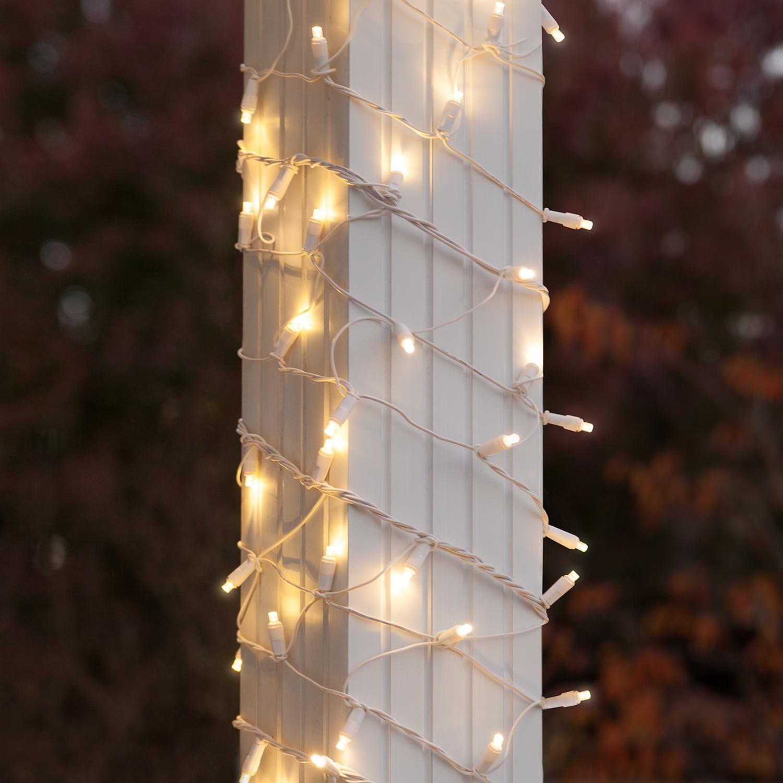 Led Column Wrap Lights 6 Quot X 15 Warm White White Wire