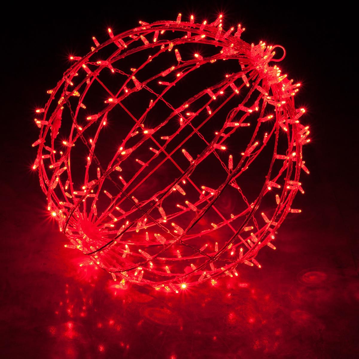 Commercial Mega Sphere Light Ball Fold Flat Red Led