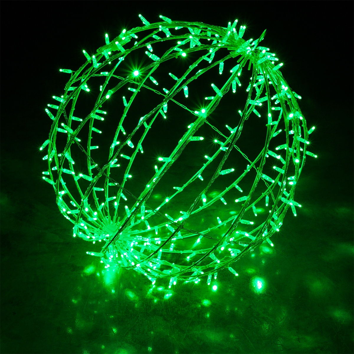 Commercial Mega Sphere Light Ball Fold Flat Green Led