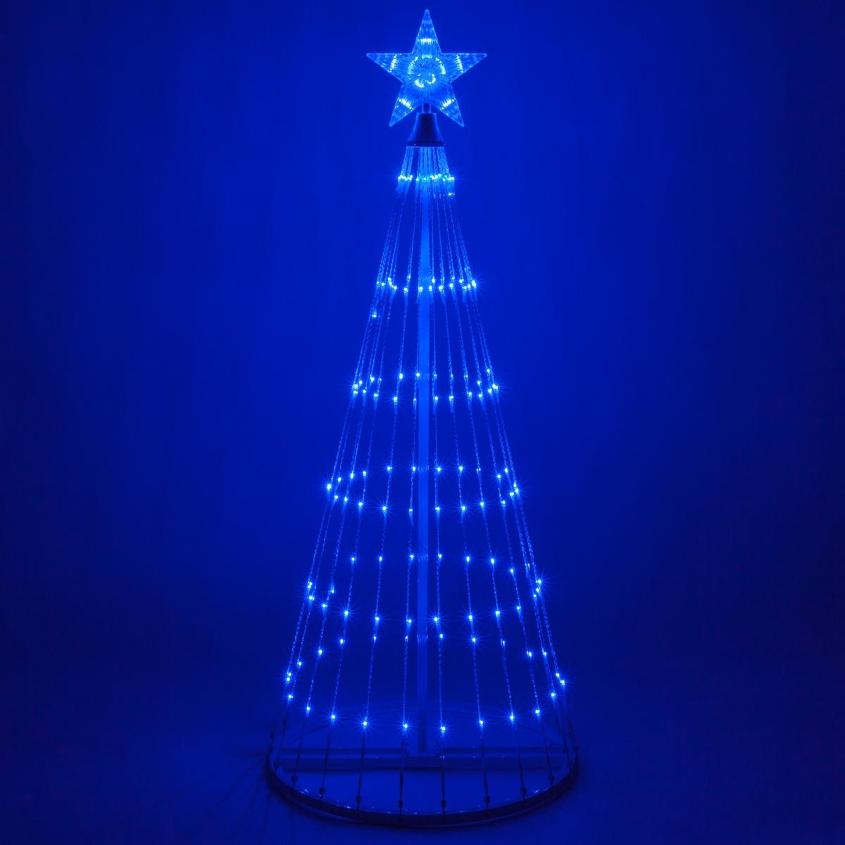 6 Blue Led Animated Outdoor Lightshow Tree Yard Envy