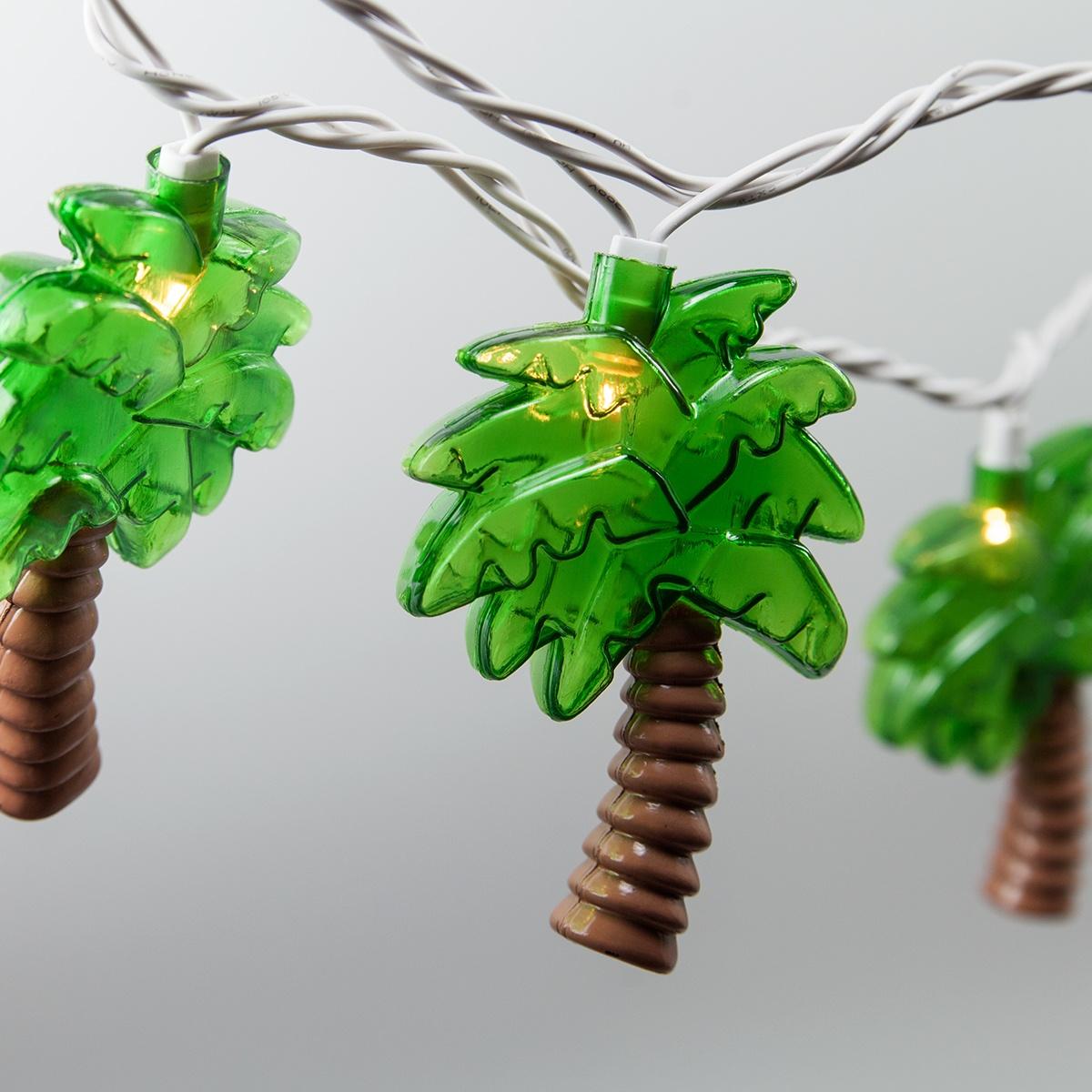 Palm Tree String Lights 10 Clear Lights Yard Envy