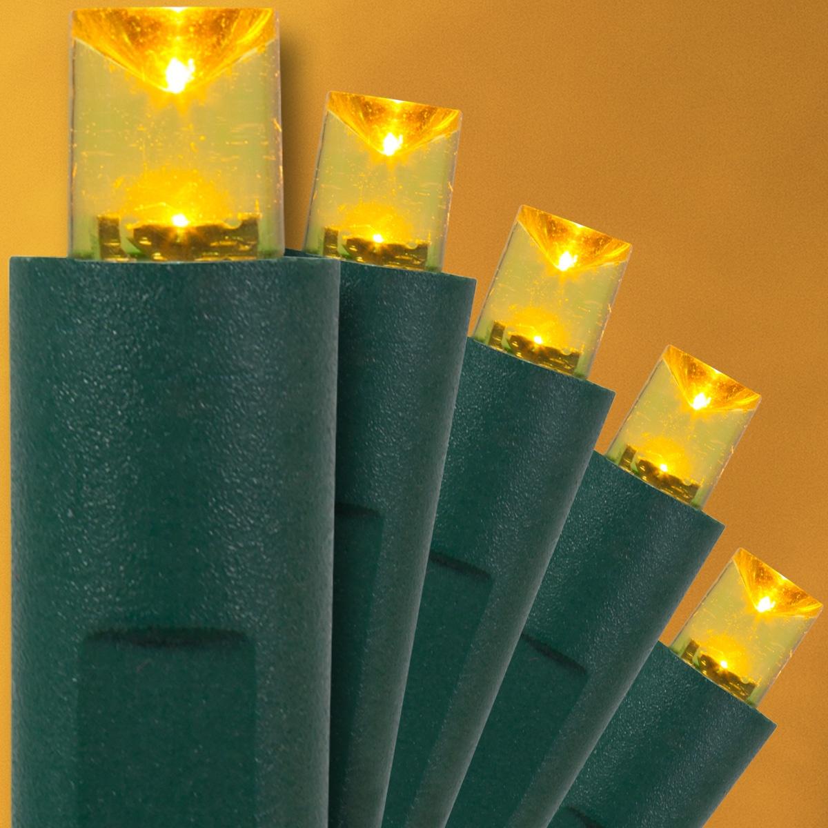 Yellow Christmas Lights, 50 ct, LED Mini - Yard Envy