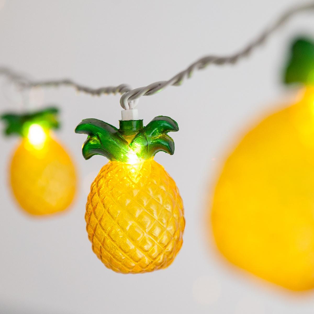 Pineapple String Light Set 10 Clear Lights Yard Envy