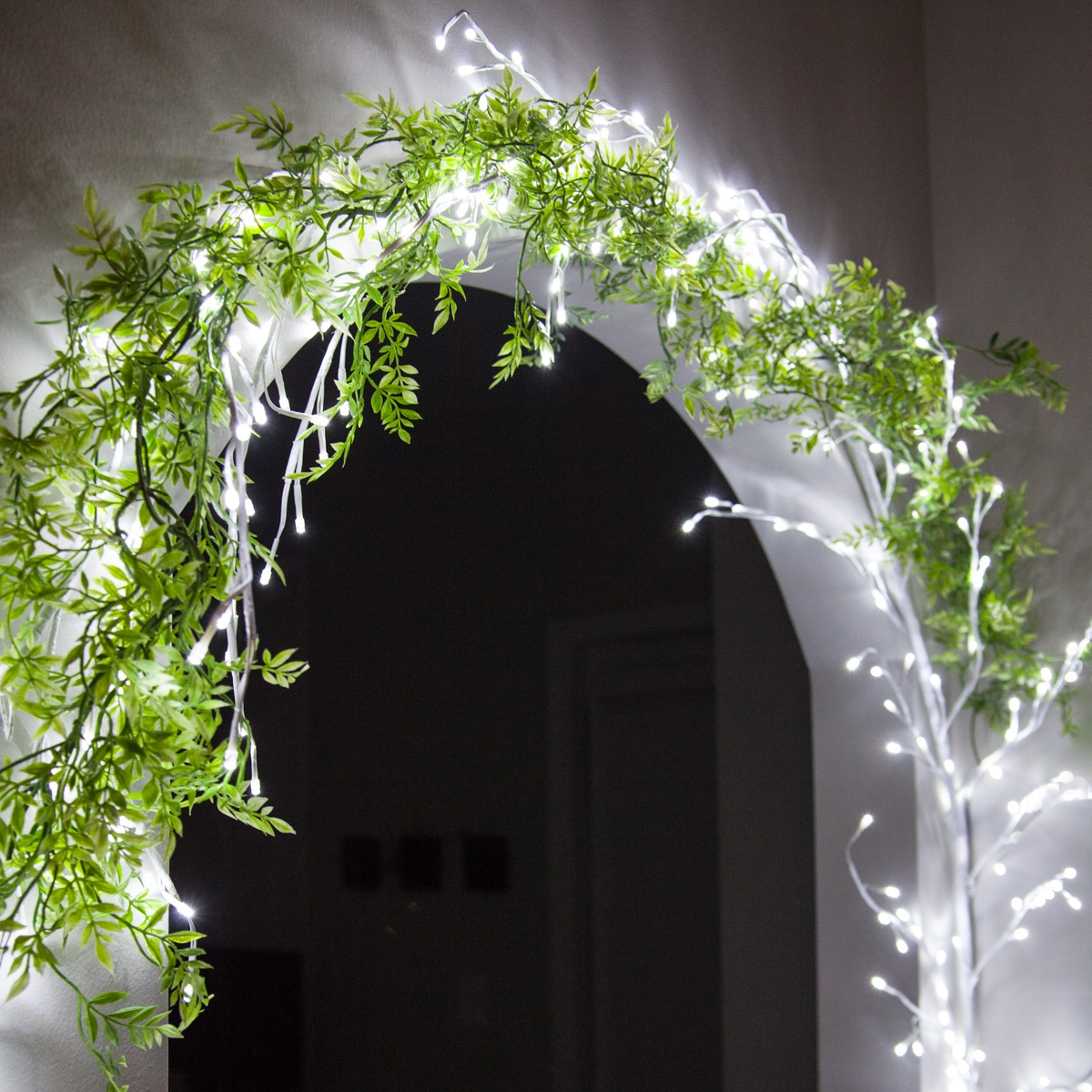 White Climbing Vine Led Lighted Branches Cool White