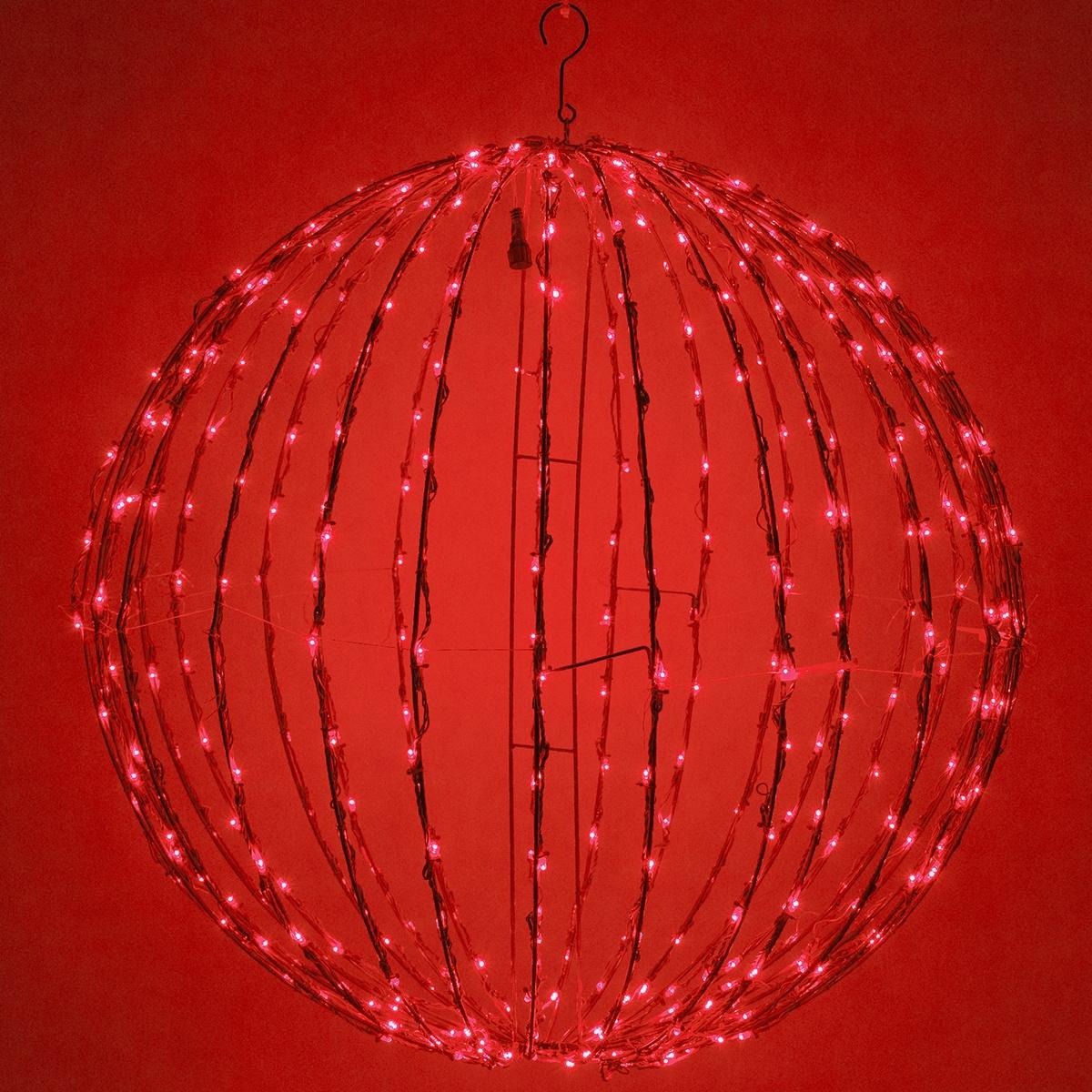 Light Ball Fold Flat Red Frame Red Led Yard Envy