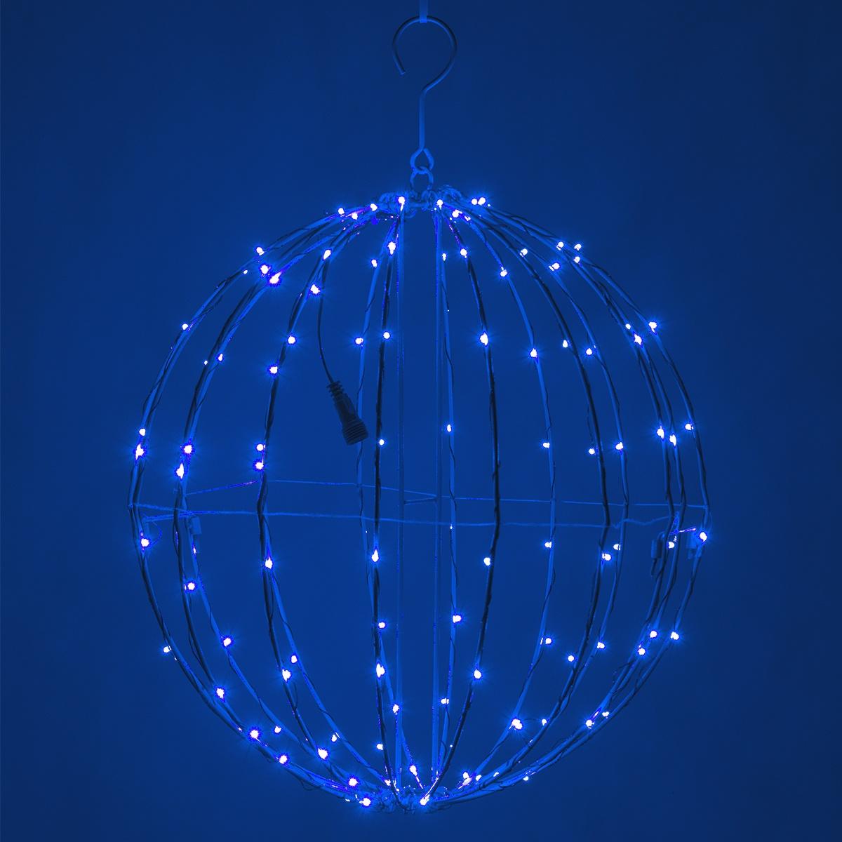 Fairy Light Ball Fold Flat Blue Frame Blue Led Yard Envy