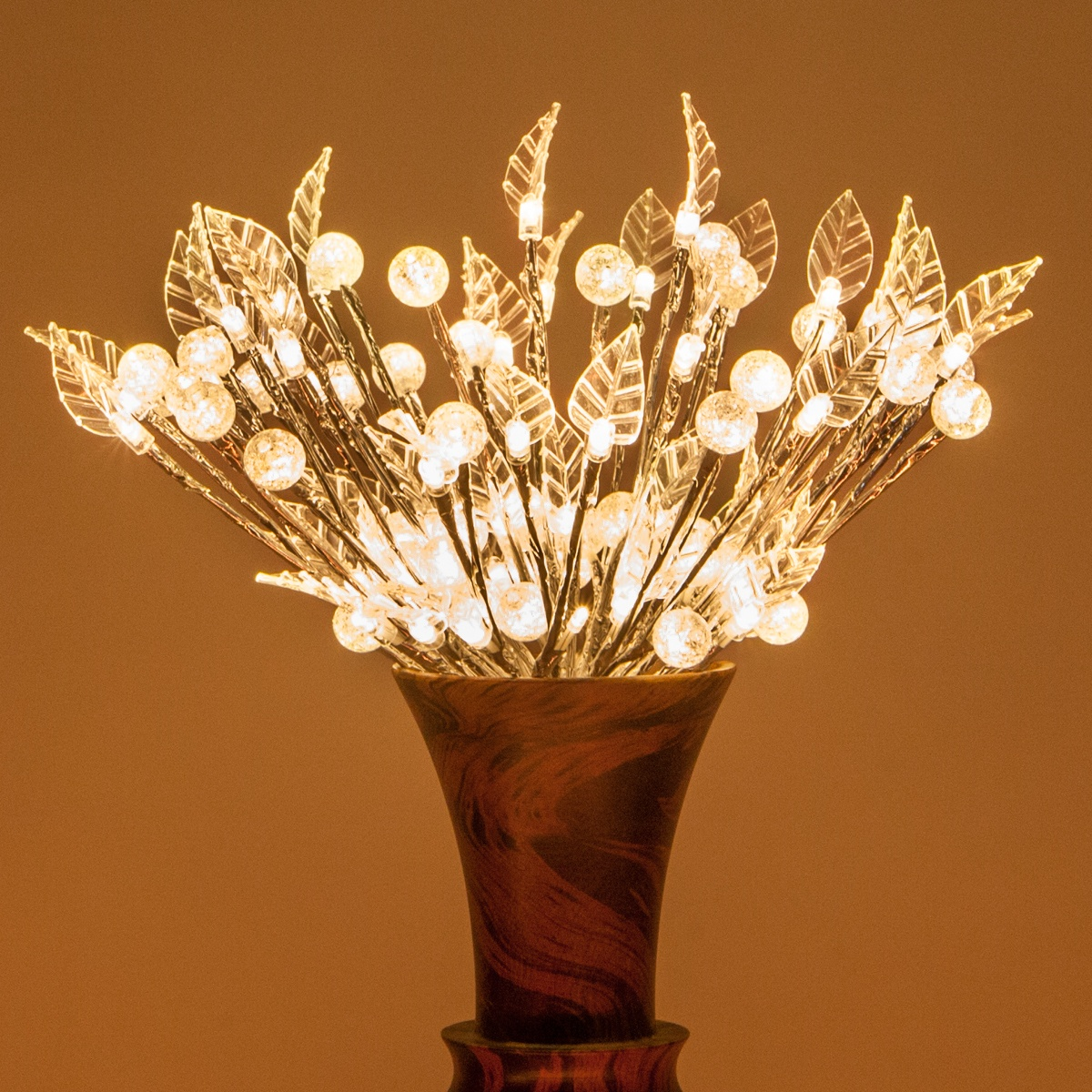 Silver Starburst Led Lighted Branches Warm White Lights