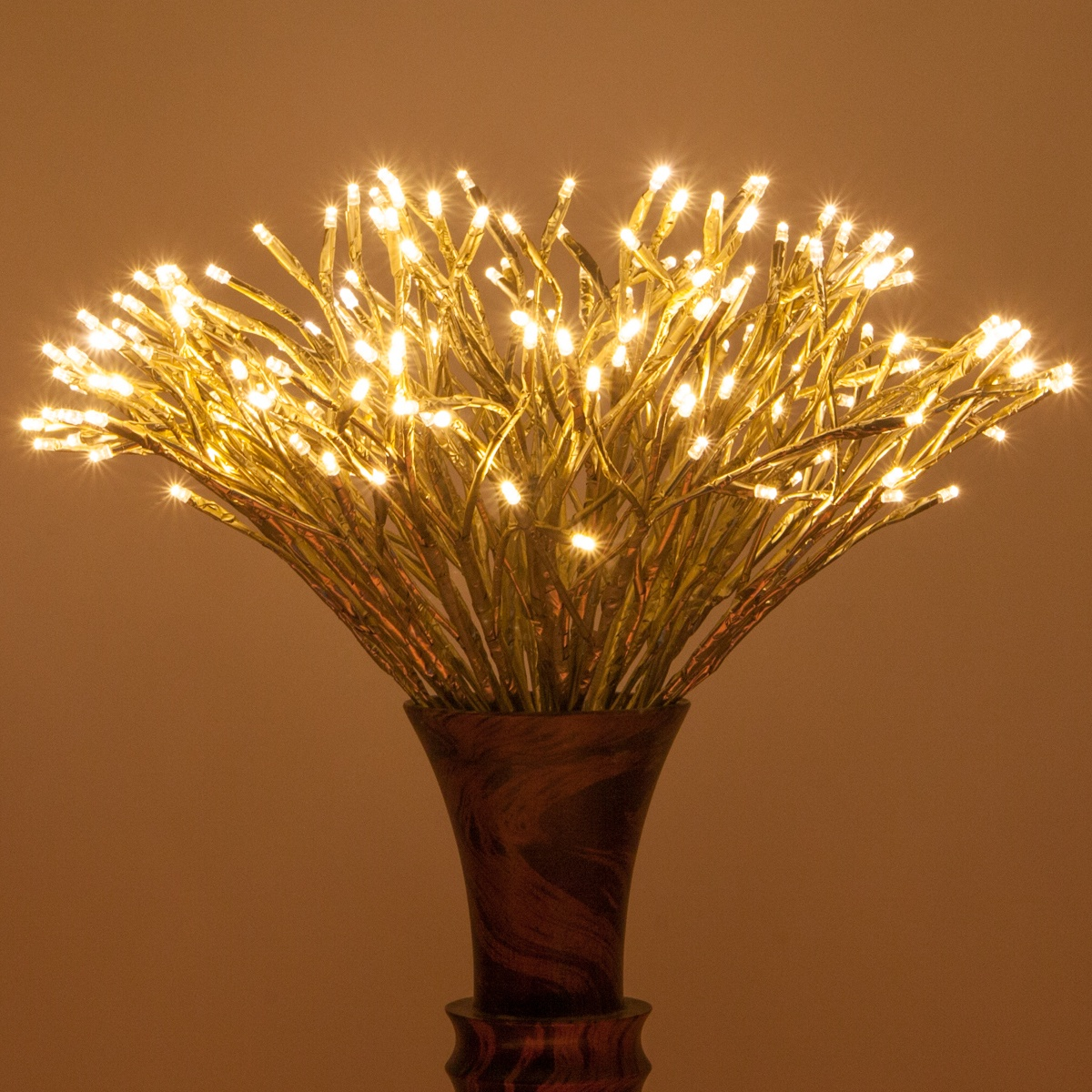 Gold Starburst Led Lighted Branches Warm White Twinkle