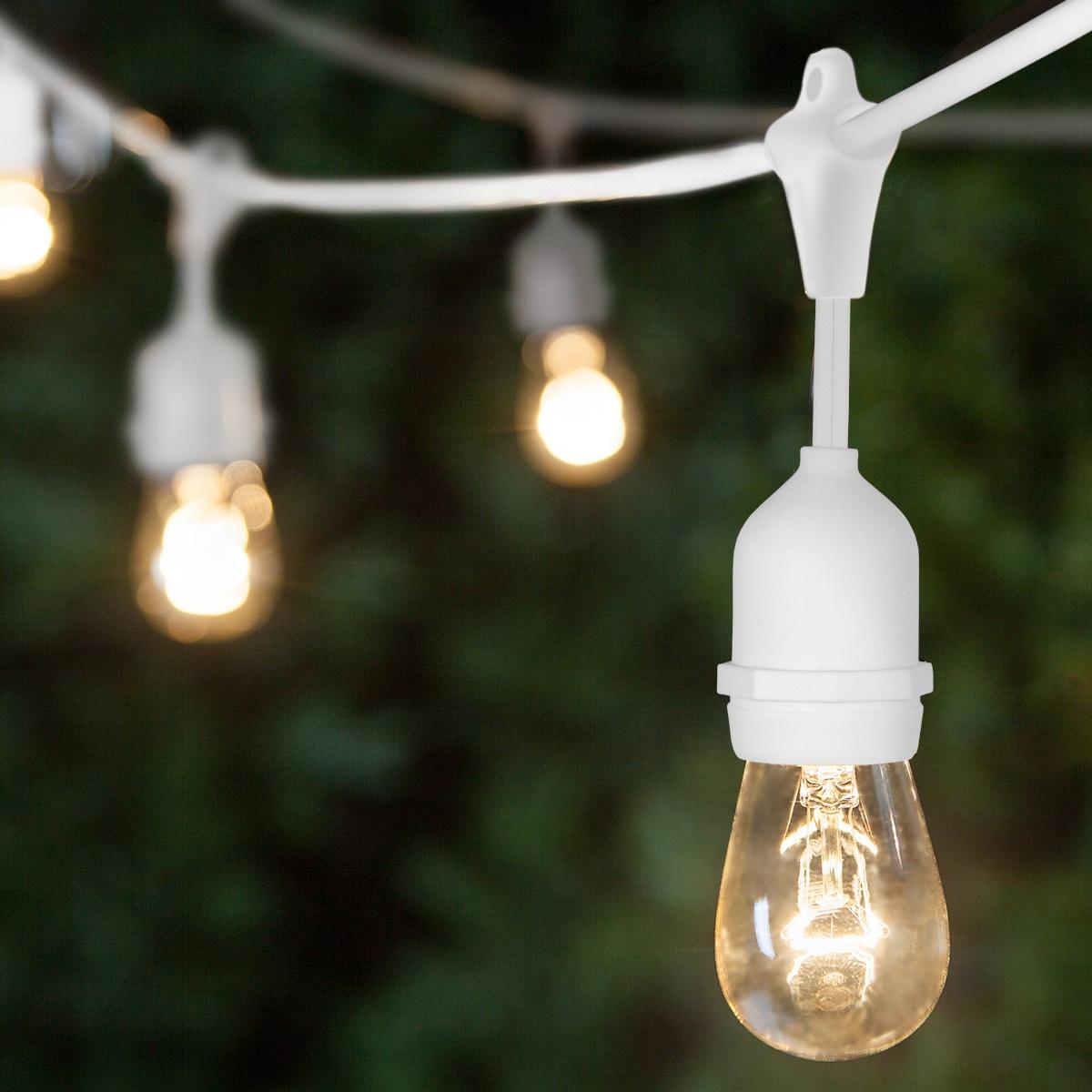 Patio String Lights Clear S14 Bulbs